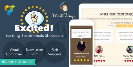 Excited Testimonials 1.3.2 – Testimonials Showcase for WordPress