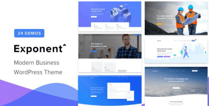 Exponent 1.2.9.1 – Modern Multi-Purpose Business WordPress theme