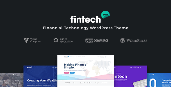 Fintech WP 1.2.3 – Financial Technology and Services WordPress Theme