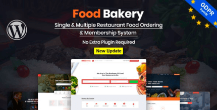 FoodBakery 2.3 NULLED – Food Delivery Restaurant Directory WordPress Theme