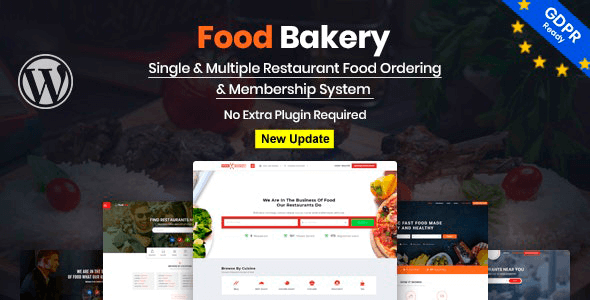 FoodBakery 2.2 NULLED – Food Delivery Restaurant Directory WordPress Theme