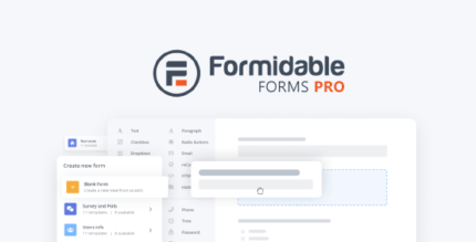 Formidable Forms Pro 5.0.04 NULLED + Templates – WordPress Form Builder