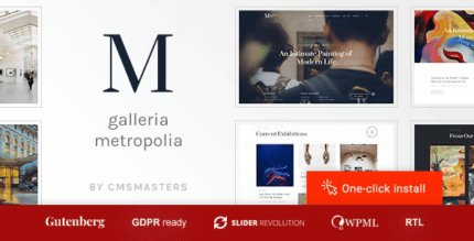 Galleria Metropolia 1.1.3 – Art Museum & Exhibition Gallery Theme