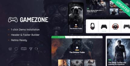 Gamezone 1.1.1 – Gaming Blog & Store WordPress Theme