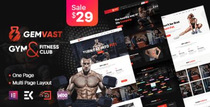 Gemvast 1.0.3 – Gym Fitness Club Multipage, Onepage WordPress Theme