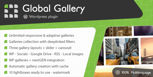 Global Gallery 8.0.1 – WordPress Responsive Gallery