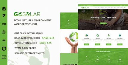 GoSolar 1.2.8 – Eco Environmental & Nature WordPress Theme