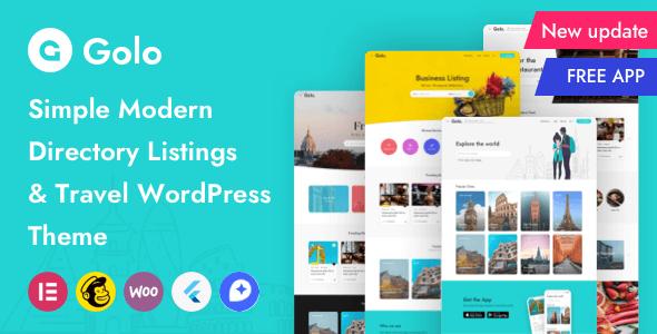 Golo 1.4.7 – Directory & Listing, Travel WordPress Theme