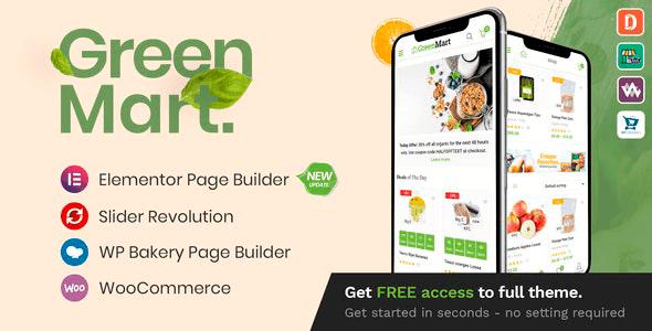 GreenMart 3.1.0 – Organic & Food WooCommerce WordPress Theme