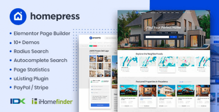 HomePress 1.3.3 NULLED – Real Estate WordPress Theme