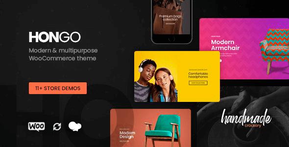 Hongo 2.1 NULLED – Modern & Multipurpose WooCommerce WordPress Theme