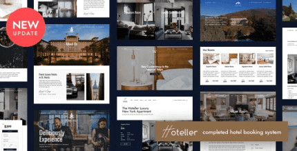 Hoteller 5.4 NULLED – Booking WordPress Theme