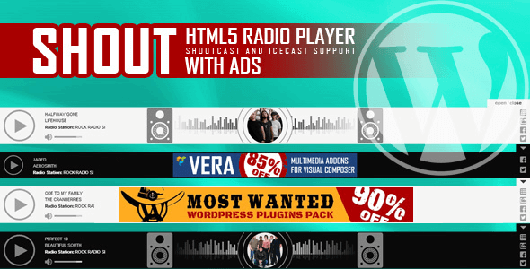 SHOUT 3.2 – HTML5 Radio Player With Ads