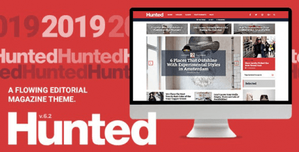 Hunted 8.0.3 – A Flowing Editorial Magazine Theme
