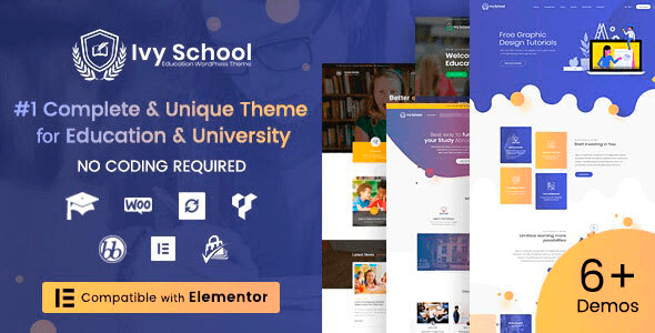 IvyPrep 1.3.9 NULLED – Education & School WordPress Theme