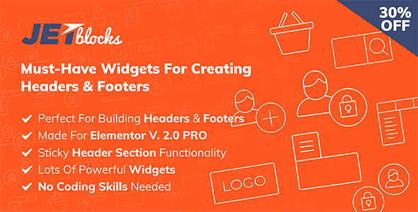 JetBlocks 1.2.8 – The must-have headers & footers widgets for Elementor