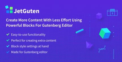 JetGuten 1.1.2 – Blocks Set Addon for Gutenberg Editor