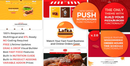 Lafka 2.5.3.1 – WooCommerce Theme for Burger & Pizza Delivery