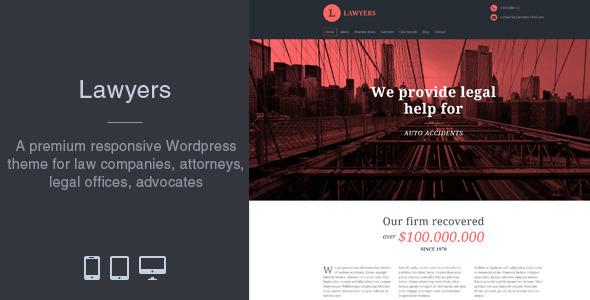 Lawyers 4.1.7 – Responsive Business WordPress Theme