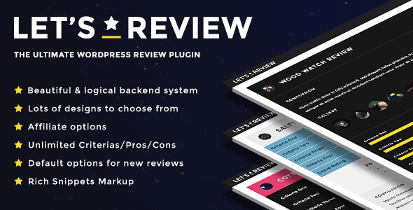 Let's Review 3.3.5 – WordPress Review Plugin With Affiliate Options