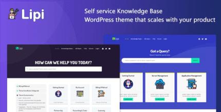 Lipi 1.5 – Self Service Knowledge Base and Creative WordPress Theme