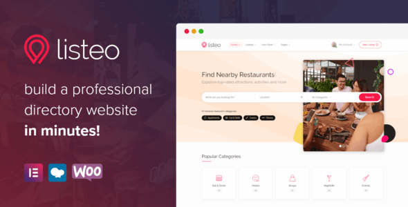 Listeo 1.6.19 NULLED – Directory & Listings With Booking – WordPress Theme
