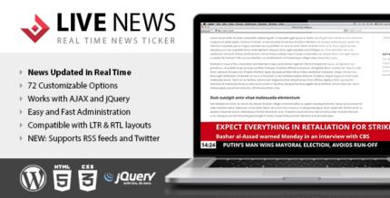 Live News 2.14 – Real Time News Ticker