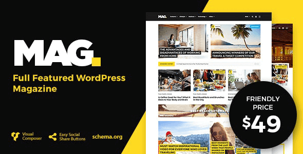 Mag 2.0.5 – Full Featured WordPress Magazine