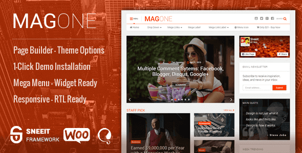 MagOne 7.4 – Responsive Magazine & News WordPress Theme