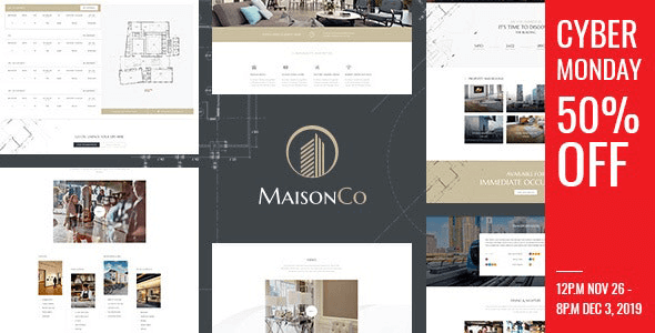 MaisonCo 1.5.0 – Single Property WordPress Theme