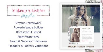 MakeUp Artist Pro 1.2.0 – Beauty and Hair Stylist WordPress Theme