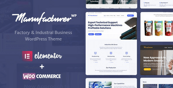 Manufacturer 1.3.4 – Factory and Industrial WordPress Theme