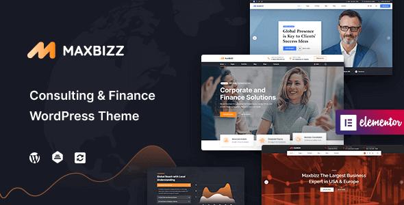 Maxbizz 1.0.1 – Consulting & Financial Elementor WordPress Theme