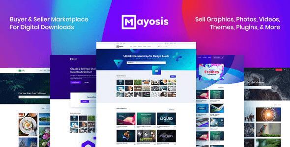 Mayosis 3.6 – Digital Marketplace WordPress Theme