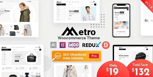 Metro 1.8.3 – Minimal WooCommerce WordPress Theme