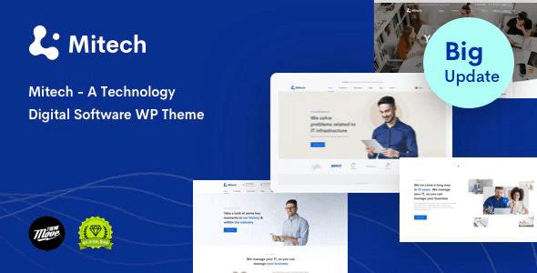 Mitech 1.6.1 – Technology IT Solutions & Services WordPress Theme