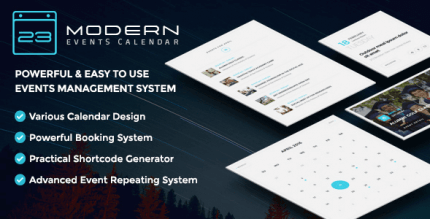 Modern Events Calendar 5.19.0 – Responsive Event Scheduler & Booking For WordPress