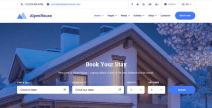 MotoPress Alpenhouse 1.3.2 – WordPress Hotel Booking Theme