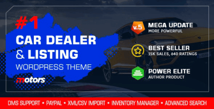 Motors 5.0.1 NULLED – Car Dealership WordPress Theme