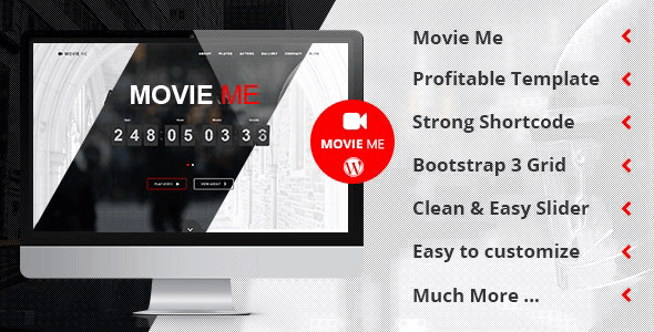 Movie Me 4.6 – One Page Responsive WordPress Theme