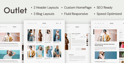 Outlet 1.0.4 – A Simple eCommerce WordPress Theme for Selling Online