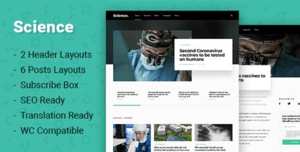 Science 1.0.3 – Create a Science or Medicine Website