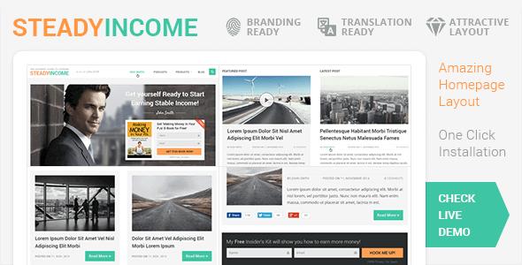 SteadyIncome 2.2.11 – Personal WordPress Blog Theme