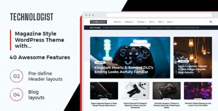 Technologist 1.0.1 – The Theme for a Modern Technology Website