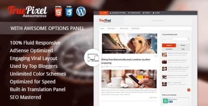 TruePixel 4.2.3 – Responsive & Felixble WordPress Blog Theme