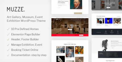 Muzze 1.3.5 – Museum Art Gallery Exhibition WordPress Theme