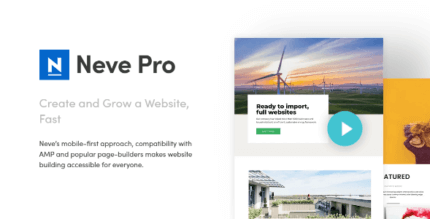 Neve Pro 2.11.4 NULLED – Super fast, Easily customizable, Multi-purpose theme (Agency Package)