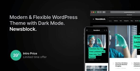 Newsblock 1.1.9 NULLED – Modern WordPress Theme with Dark Mode