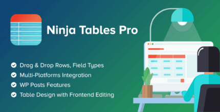 Ninja Tables Pro 4.1.7 NULLED – The Most Versatile and Fastest WordPressTables Plugin