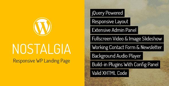 nostalgia-responsive-wordpress-landing-page